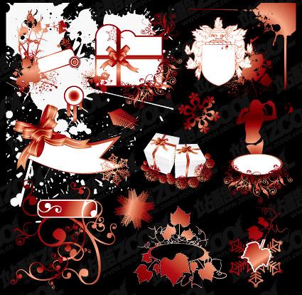 Dessins vectoriels et matériel de motifs décoratifs