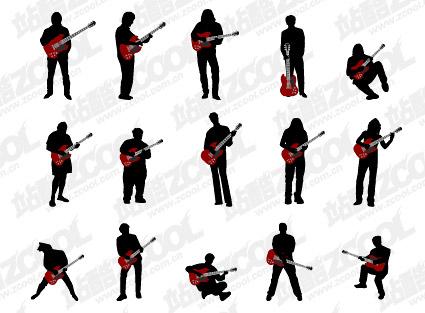 Dan Jita รูป silhouettes vector วัสดุ