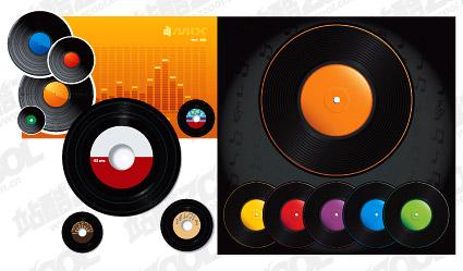 Вектор цвет виниловый диск материал