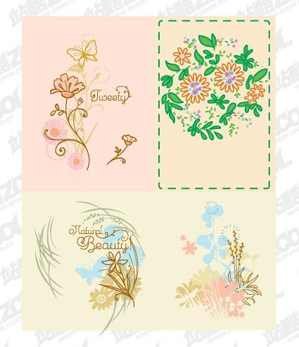 シンプルなパターンで手描き素材をベクトルします。