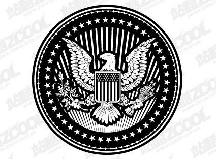 Европейский и Американский орел материал циркуляр векторного графического стиля