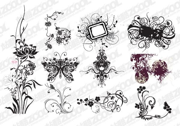 Material de vectores de patrón de forma práctica