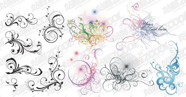 Gran variedad de David de patrón práctica vector material