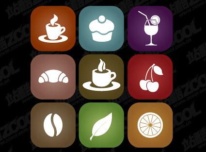 Simple comida icono material de vectores