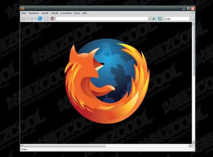 Matériau vecteur de Firefox navigateur fenêtre