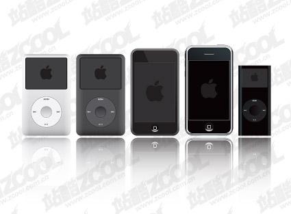 Matériau de vecteurs produits ipod de Apple