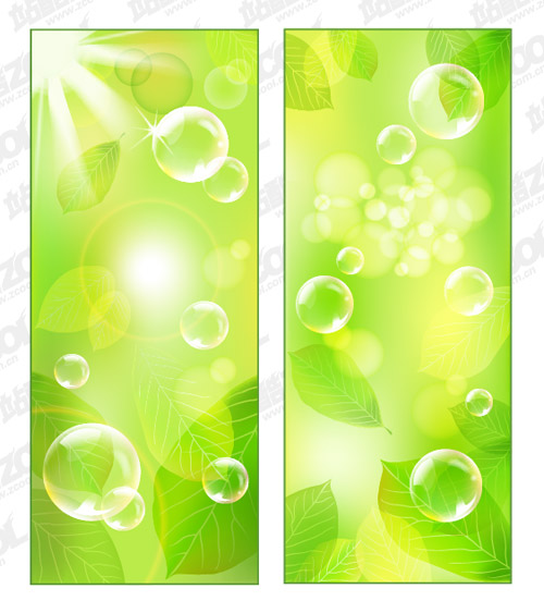 벡터 신선한 녹색 배경 자료