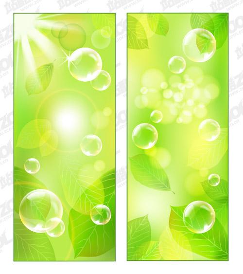 Material de fondo verde fresco de vectores