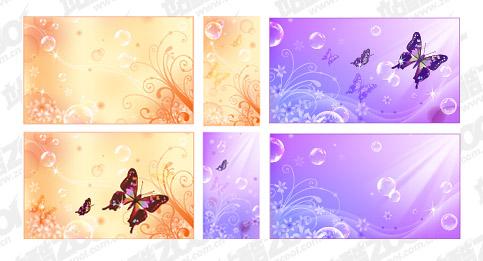 Бабочка Dream цветок пузырь вектор справочных материалов