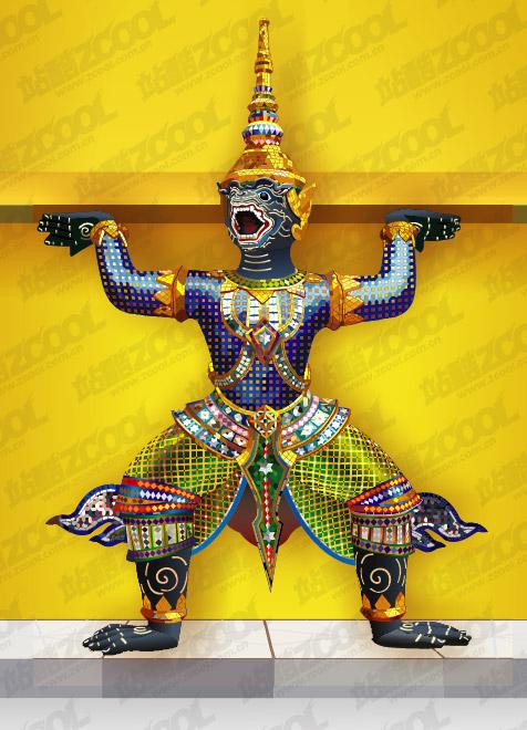 Material de vetor de estátuas de Tailândia