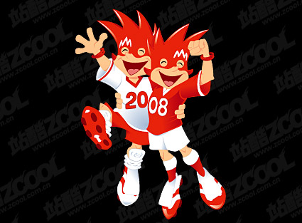 Material de vetor 2008 European Cup mascote