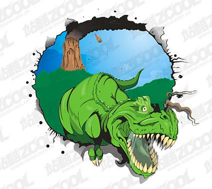 恐竜のベクター素材
