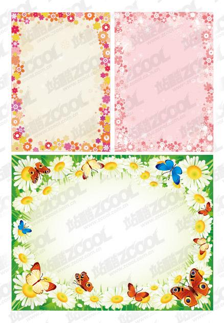 ベクトル レース花素材の構成