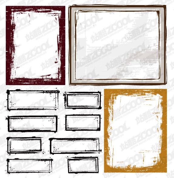 Tinta estilo frontera vector material