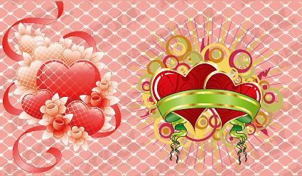 Piaodai сердце образный векторного материала