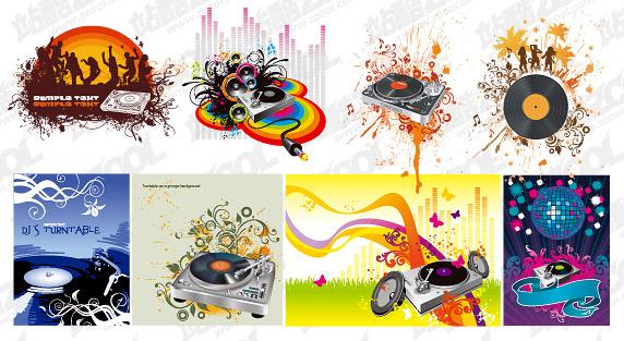 8 วัสดุ DJ เวกเตอร์