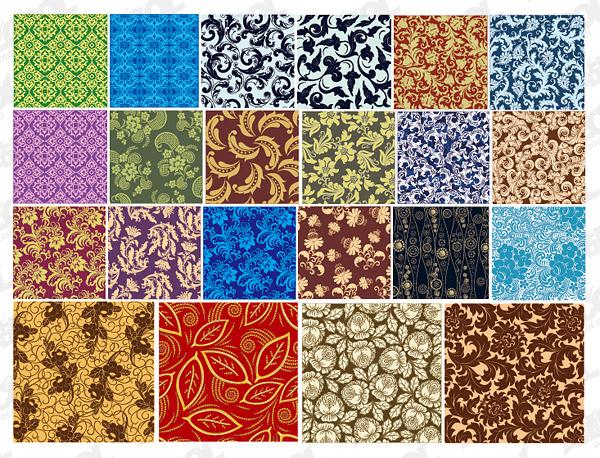 Vector de material de fondo en mosaico de patrón clásico continental 22,