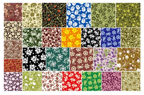 27, Vektor Hintergrundmaterial für Blumen