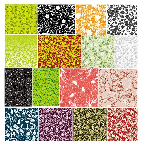 16 の実践的なパターンの背景素材ベクトル