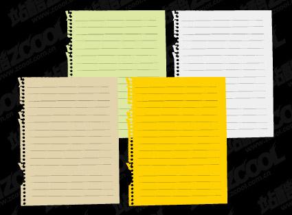 Papel de cuaderno material de vectores