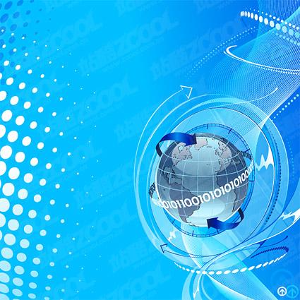โลกวิทยาศาสตร์และเทคโนโลยีวัสดุภาพประกอบชุดรูปแบบเวกเตอร์