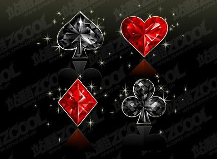 Textura de diamante de material de gráficos de vectores de póquer
