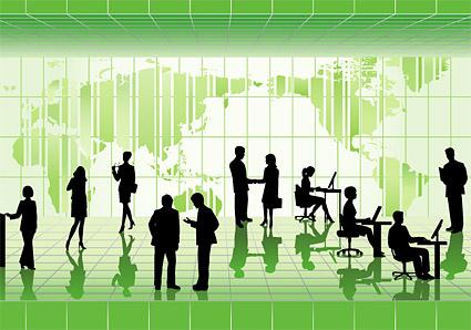 Les gens d'affaires en images vectorielles matériel illustrations