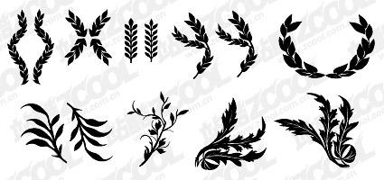 小麦と他の共通要素のベクター素材