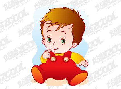 かわいい赤ちゃんベクトル材料-2