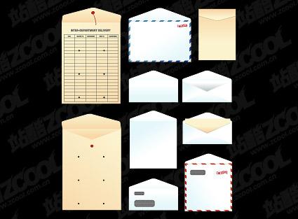 Sacs en papier, enveloppes, vecteur de matériau