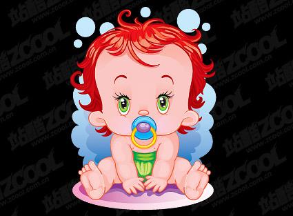 Cute Baby-Vektor-material