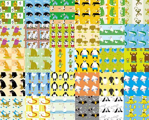 Vector de cartoon precioso mosaico fondo material-1