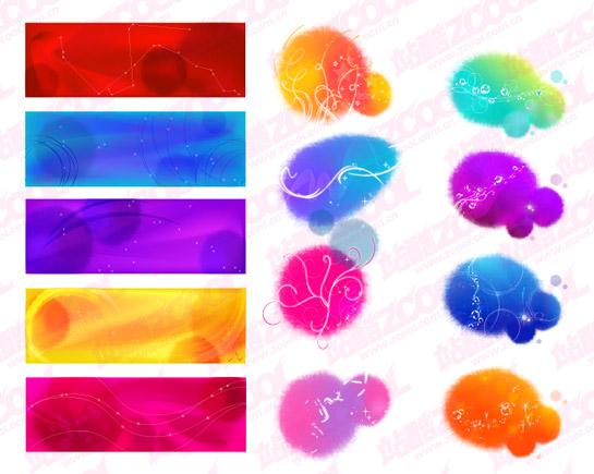 Tinta de color patrón material de fantasía de vectores