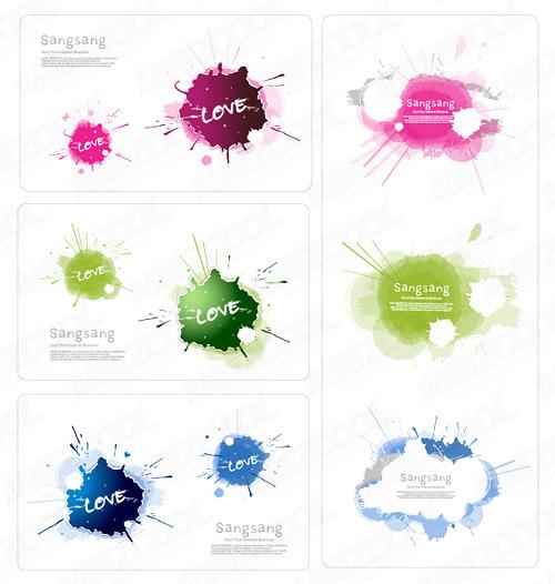Matériel de carte d'encre couleur exquise