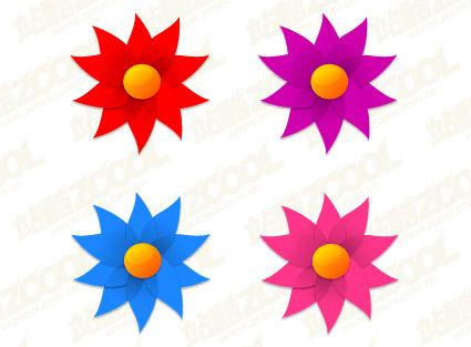 Forma de molino de flores pequeñas de material de vectores Free ...