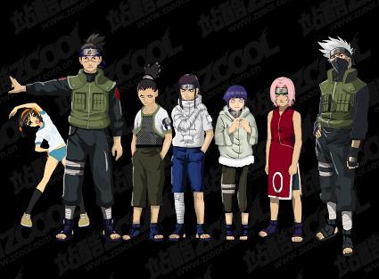 Material de vetor de caracteres Naruto