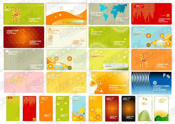 практические визитной карточки шаблон векторного материала
