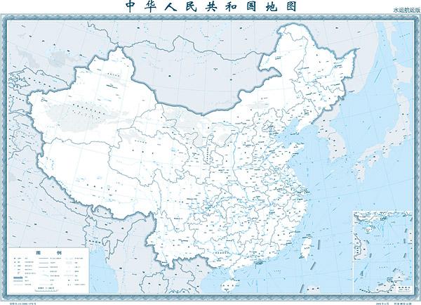 1:400 百万中国地図 (水路配布バージョン)