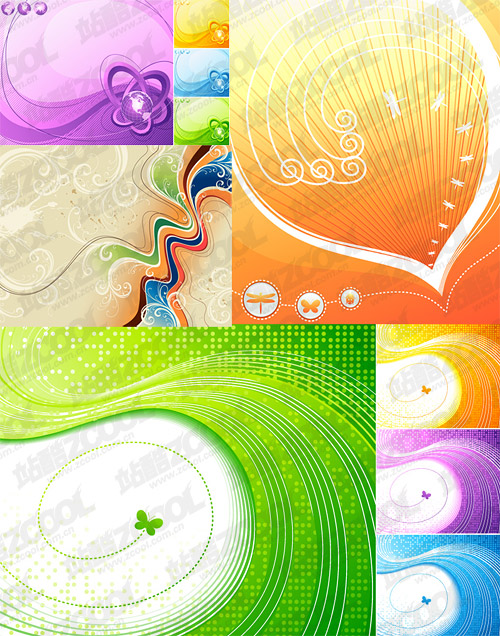 dynamic lines vector illustrations material