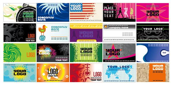 Estilo Europeo y americano de tarjeta de presentación