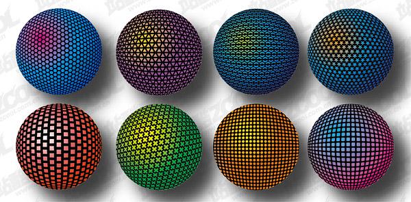 Material de diseño tridimensional esférico