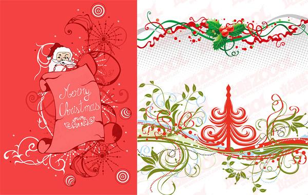 Material de vectores de patrón de Navidad