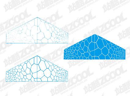 Matériau de vecteur de Cube d'eau
