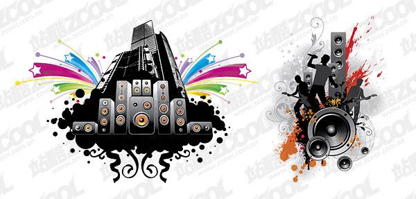 Ilustraciones vectoriales de música