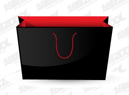 Negro bolsas de material de vectores