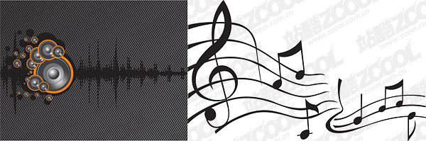 Matériau de vecteur orateur onde sonore
