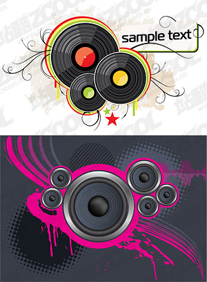 Vektor-Lautsprecher und Vinyl disc-material