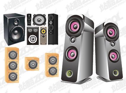 Bietet Platz für Lautsprecher-Vektor-material