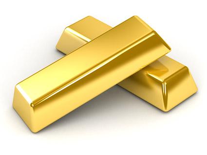 Золотой слиток картину качества материала-2