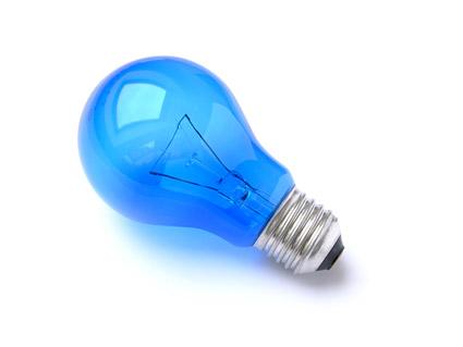 Bombilla de luz azul material de calidad de imagen